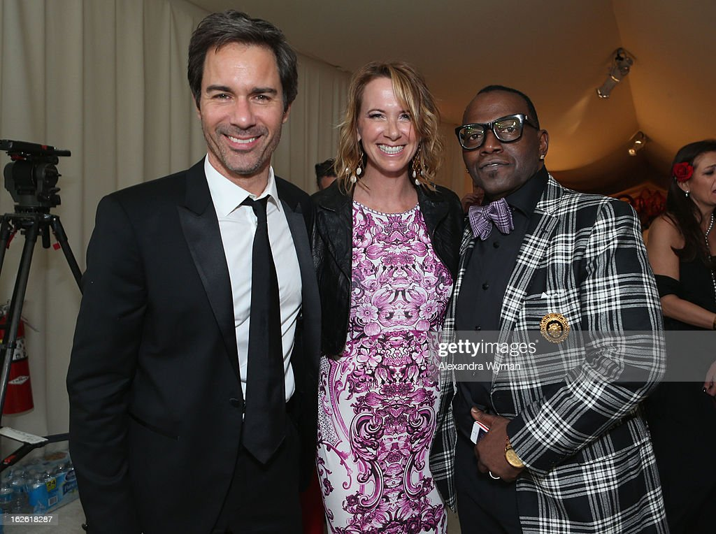 Actor Eric McCormack, Janet Holden and Tv personality Randy Jackson attend Grey Goose at 21st Annual Elton John AIDS Foundation Academy Awards Viewing Party at West Hollywood Park on February 24, 2013 in West Hollywood, California.