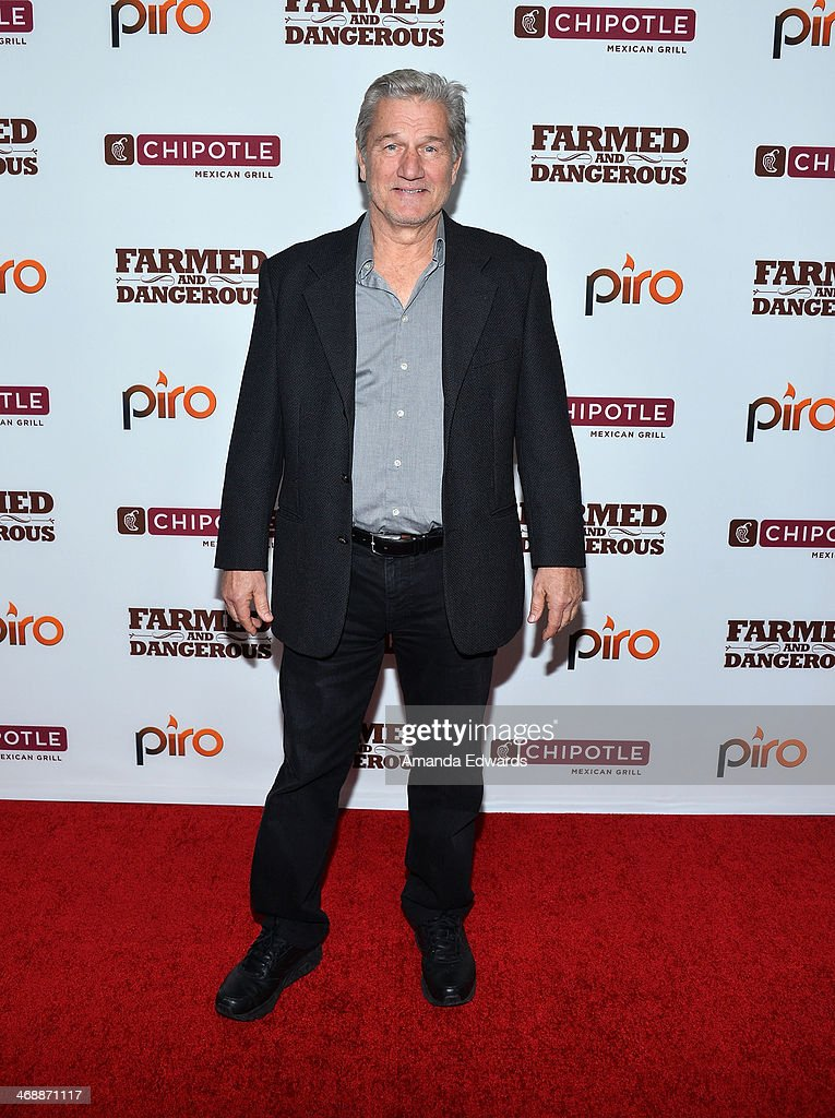 Actor Eric Pierpoint arrives at the Chipotle World Premiere of web series 'Farmed And Dangerous' at the DGA Theater on February 11, 2014 in Los Angeles, California.
