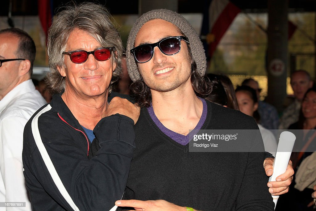 Actor Eric Roberts (L) and recording artist Keaton Simons attend the 23rd Annual William Shatner Priceline.com Hollywood Charity Horse Show at Los Angeles Equestrian Center on April 27, 2013 in Los Angeles, California.