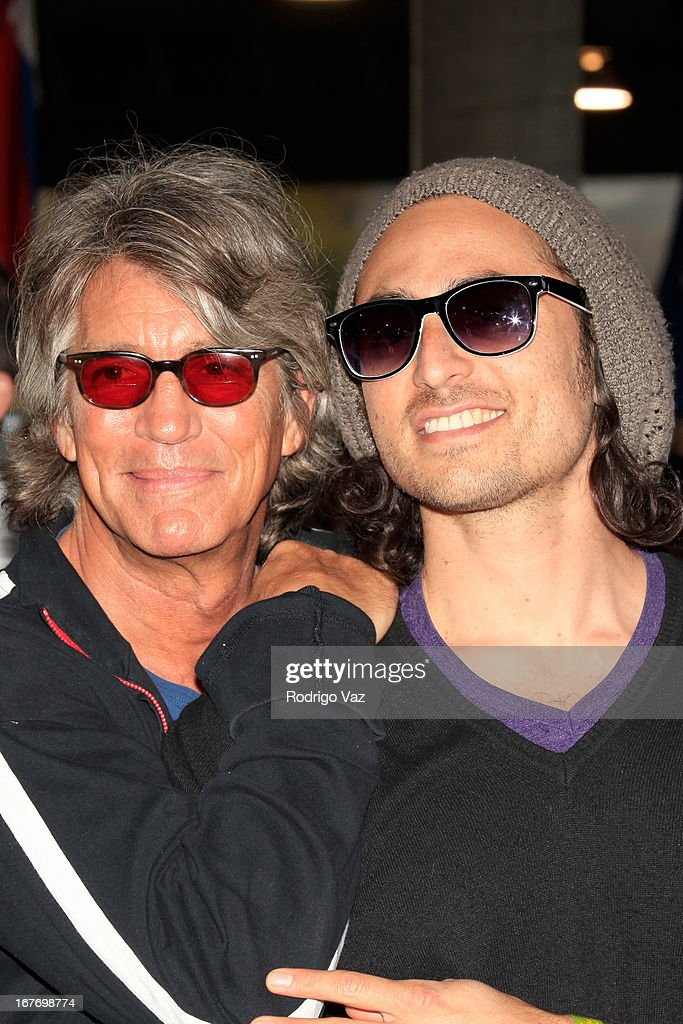 Actor <a gi-track='captionPersonalityLinkClicked' href=/galleries/search?phrase=Eric+Roberts&family=editorial&specificpeople=224670 ng-click='$event.stopPropagation()'>Eric Roberts</a> (L) and recording artist Keaton Simons attend the 23rd Annual William Shatner Priceline.com Hollywood Charity Horse Show at Los Angeles Equestrian Center on April 27, 2013 in Los Angeles, California.