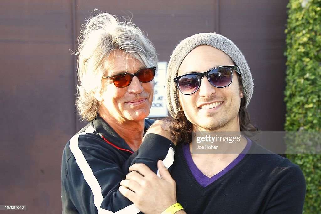Actor <a gi-track='captionPersonalityLinkClicked' href=/galleries/search?phrase=Eric+Roberts&family=editorial&specificpeople=224670 ng-click='$event.stopPropagation()'>Eric Roberts</a> (L) and singer Keaton Simons attend the 23rd Annual William Shatner Priceline.com Hollywood Charity Horse Show at Los Angeles Equestrian Center on April 27, 2013 in Los Angeles, California.