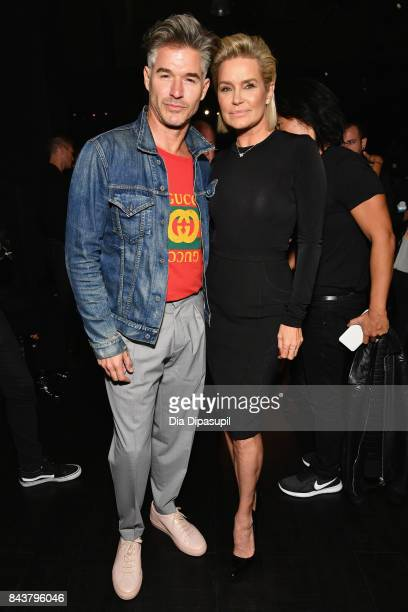 Actor Eric Rutherford and Yolanda Hadid attend Desigual fashion show during New York Fashion Week The Shows at Gallery 1 Skylight Clarkson Sq on...
