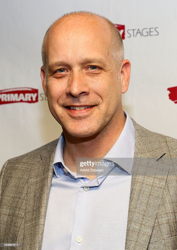 Actor Eric Simonson attends the 'Bronx Bombers' opening night after Party at West Bank Cafe on October 8, 2013 in New York City.