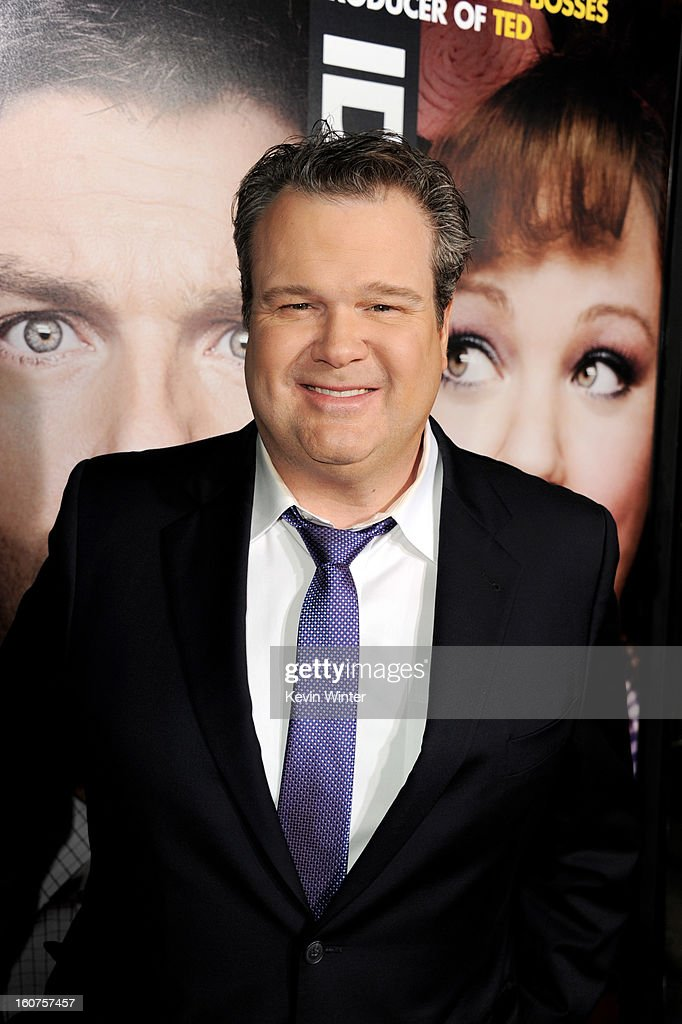 Actor Eric Stonestreet arrives at the premiere of Universal Pictures' 'Identity Thief' at the Village Theatre on February 4, 2013 in Los Angeles, California.