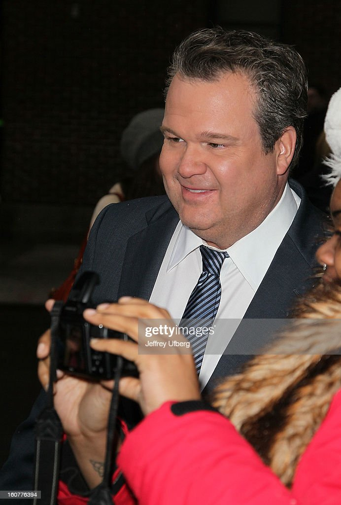 Actor <a gi-track='captionPersonalityLinkClicked' href=/galleries/search?phrase=Eric+Stonestreet&family=editorial&specificpeople=6129010 ng-click='$event.stopPropagation()'>Eric Stonestreet</a> arrives to 'Late Show with David Letteraman' at Ed Sullivan Theater on February 5, 2013 in New York City.