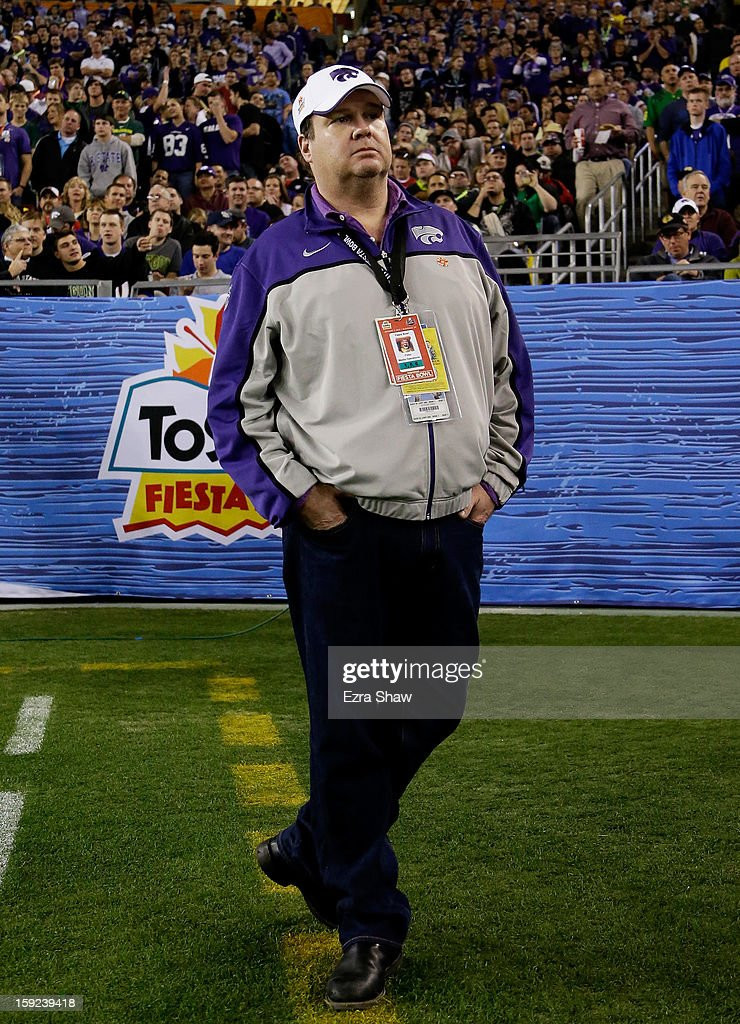 Actor Eric Stonestreet of Modern Family attends the Tostitos Fiesta Bowl between the Oregon Ducks and the Kansas State Wildcats at University of Phoenix Stadium on January 3, 2013 in Glendale, Arizona.