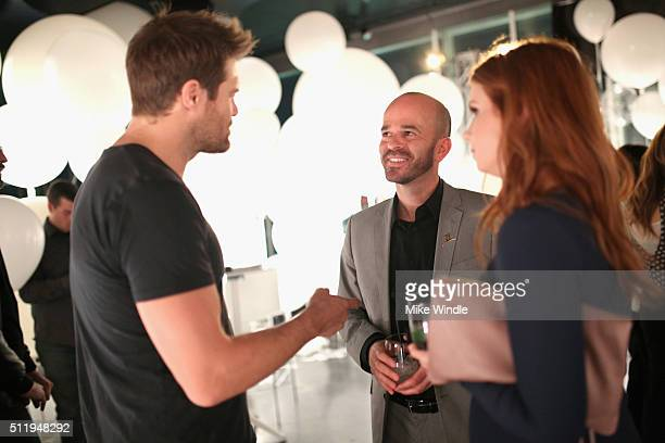 Actor Eric Stults Fisher Pence of St Jude and actress JoAnna Garcia attend smartwater sparkling celebrates Jennifer Aniston and St Jude's Children's...