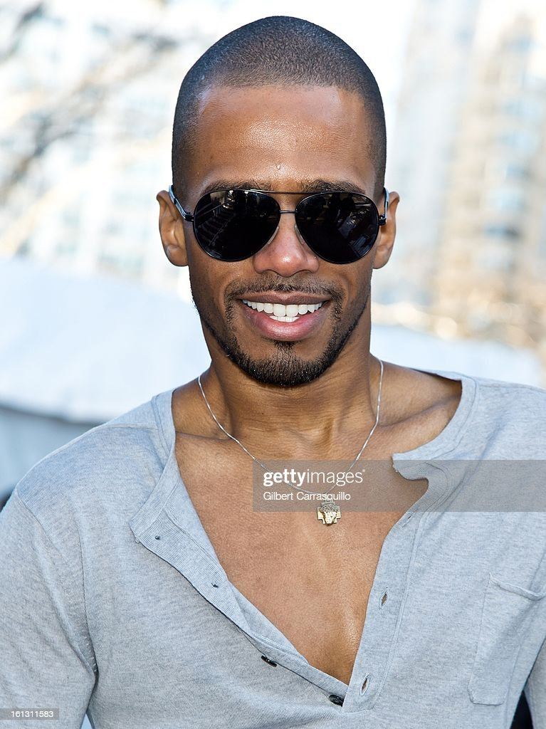 Actor Eric West attends Fall 2013 Mercedes-Benz Fashion Show at The Theater at Lincoln Center on February 9, 2013 in New York City.
