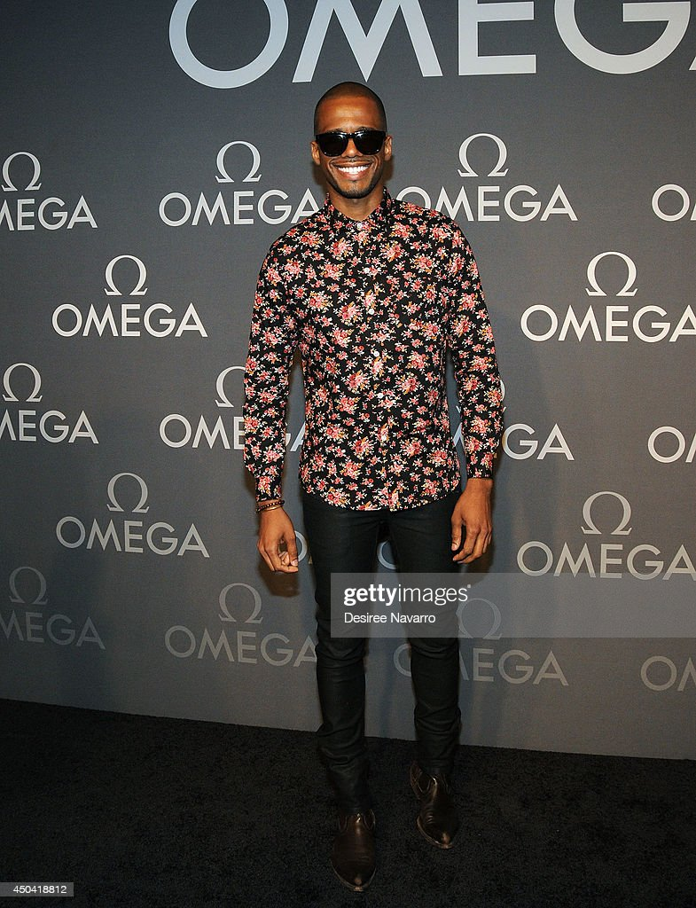 Actor <a gi-track='captionPersonalityLinkClicked' href=/galleries/search?phrase=Eric+West&family=editorial&specificpeople=2580988 ng-click='$event.stopPropagation()'>Eric West</a> attends the OMEGA Speedmaster Dark Side of the Moon launch at Cedar Lake on June 10, 2014 in New York City.