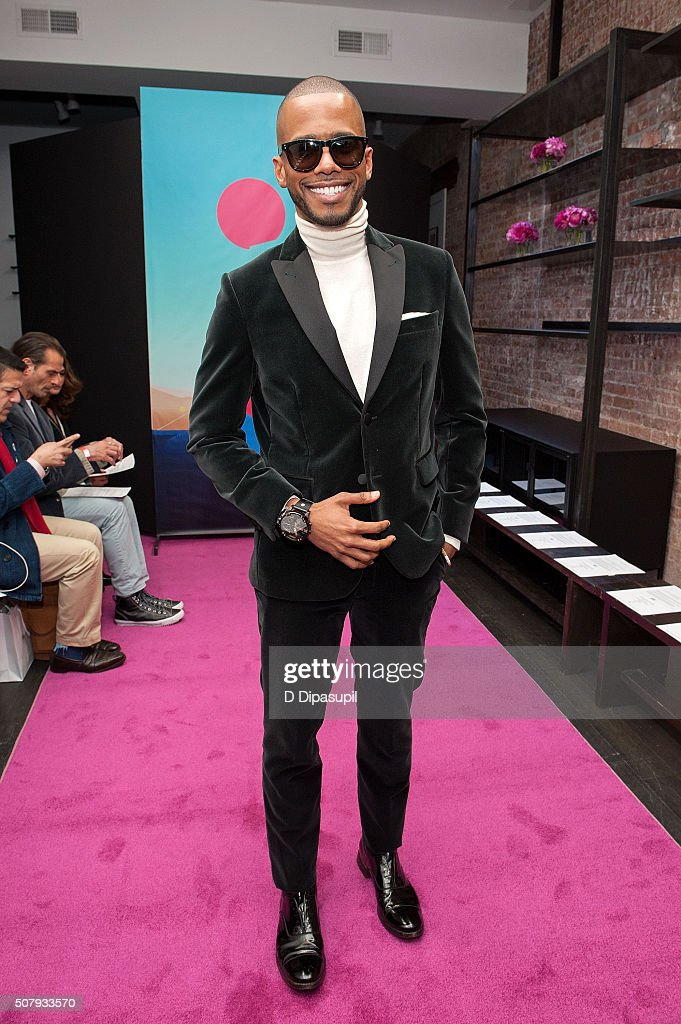 Actor Eric West attends the Stephen F fashion show during New York Fashion Week Men's Fall/Winter 2016 on February 1, 2016 in New York City.