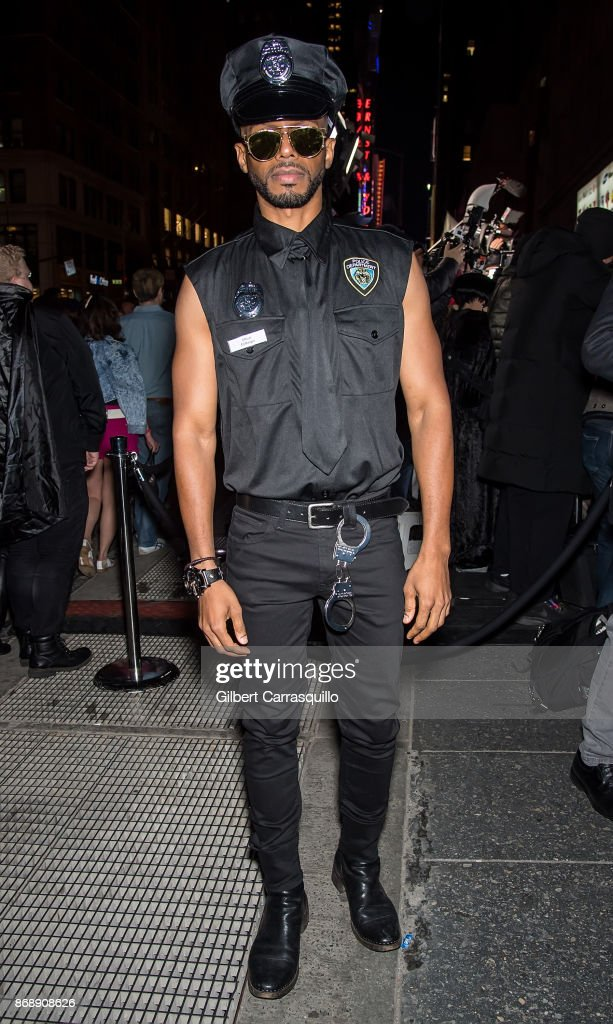 Actor Eric West is seen during Heidi Klum's 18th Annual Halloween Party at Magic Hour Rooftop Bar & Lounge on October 31, 2017 in New York City.