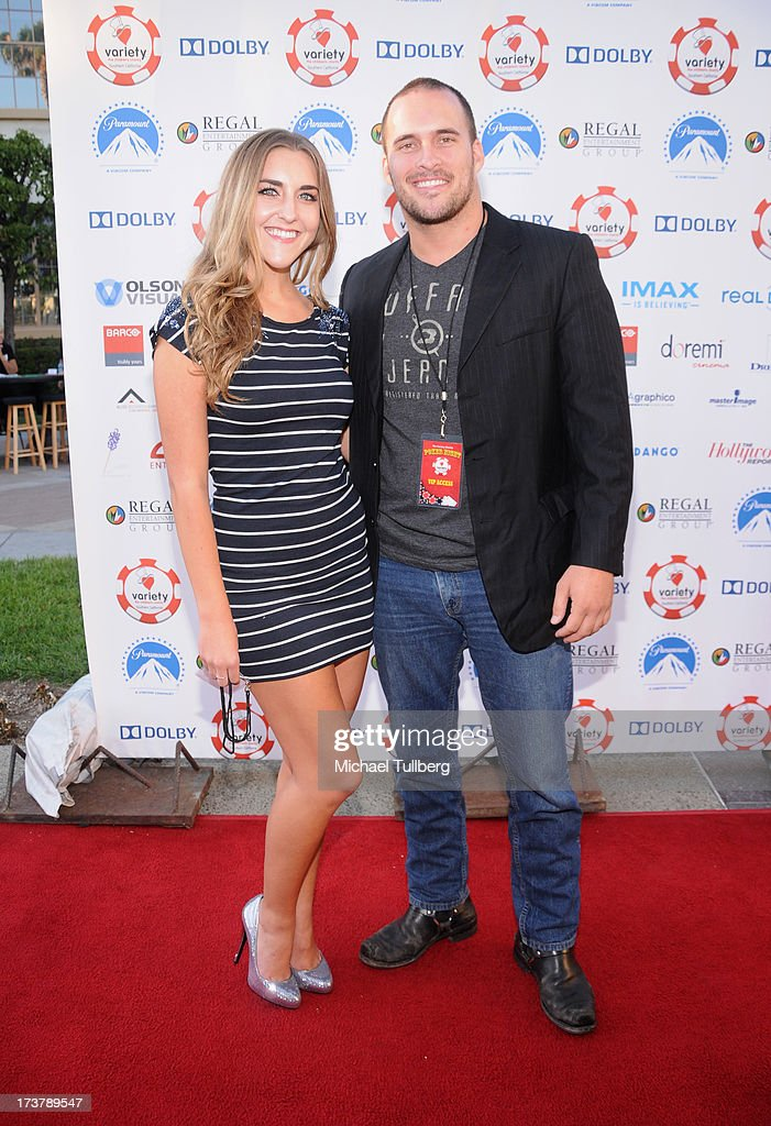 Actor Erik Aude and girlfriend Chanel Ross attend the 3rd Annual Variety Charity Texas Hold 'Em Tournament & Casino Game at Paramount Studios on July 17, 2013 in Hollywood, California.