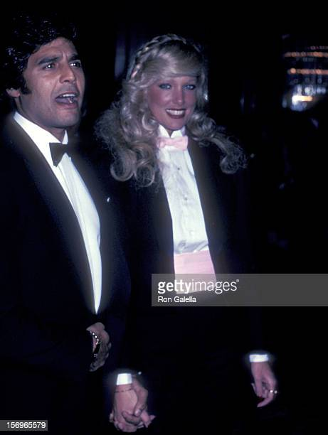 Actor Erik Estrada and date Kathy Shower attend the 40th Annual Golden Globe Awards January 29 1983 at the Beverly Hilton Hotel in Beverly Hills...