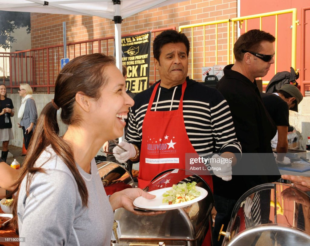 Actor Erik Estrada participates in the Hollywood Chamber of Commerce's annual police and firefighters appreciation day at the Hollywood LAPD station on November 28, 2012 in Hollywood, California.