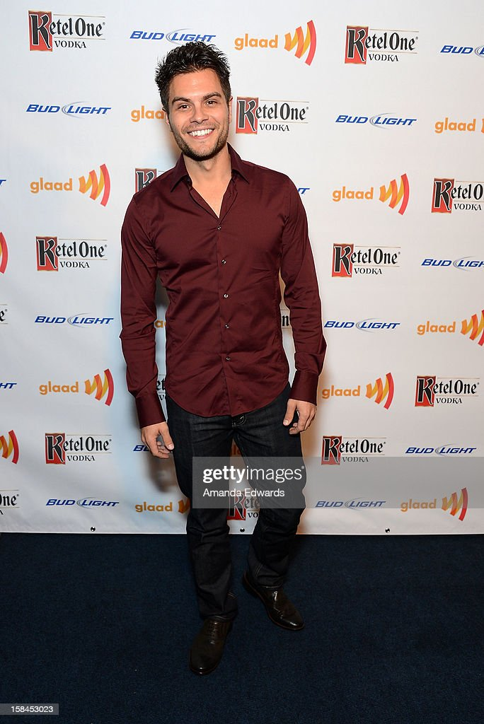 Actor Erik Valdez arrives at the GLAAD Tidings Annual Holiday Celebration at The London Hotel on December 16, 2012 in West Hollywood, California.