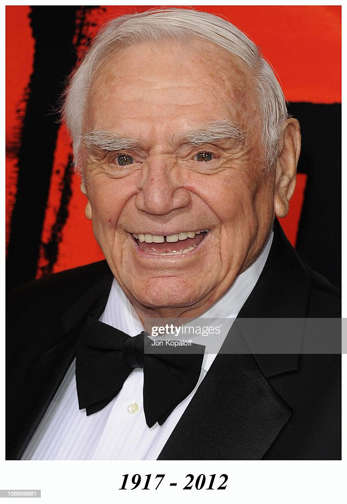 Actor <a gi-track='captionPersonalityLinkClicked' href=/galleries/search?phrase=Ernest+Borgnine&family=editorial&specificpeople=220633 ng-click='$event.stopPropagation()'>Ernest Borgnine</a> arrives at the Los Angeles Premiere 'RED' at Grauman's Chinese Theatre on October 11, 2010 in Hollywood, California. <a gi-track='captionPersonalityLinkClicked' href=/galleries/search?phrase=Ernest+Borgnine&family=editorial&specificpeople=220633 ng-click='$event.stopPropagation()'>Ernest Borgnine</a> died in 2012.
