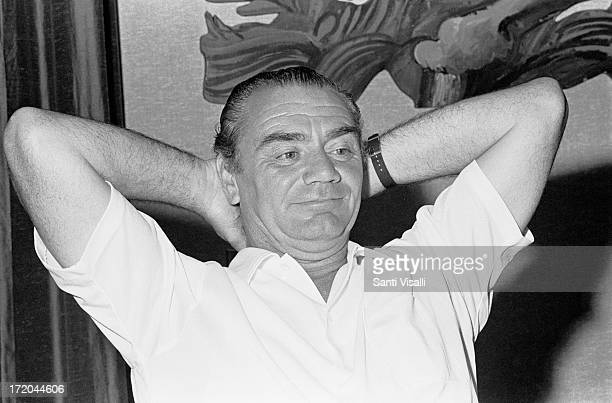 Actor Ernest Borgnine during a Press conference on April 151969 in Hamilton Bermuda