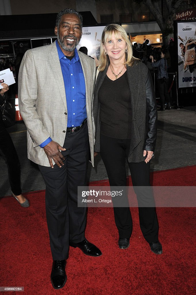 Actor Ernie Hudson and wife Linda arrive for the Premiere Of Universal Pictures And Red Granite Pictures' 'Dumb And Dumber To' held at the Regency...
