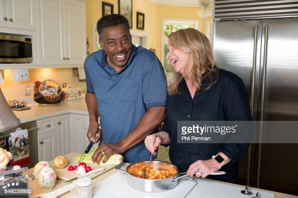 Actor Ernie Hudson and wife Linda Kingsberg are photographed for Closer Weekly Magazine on July 5 2017 at home in Minnesota