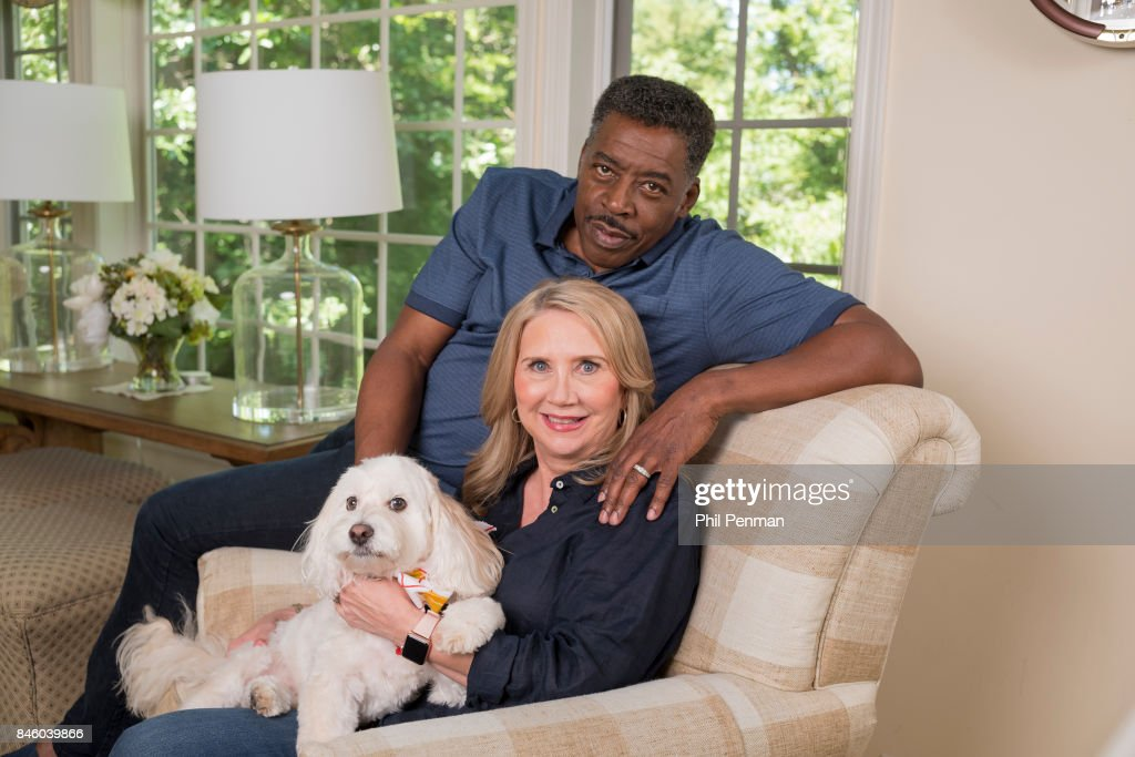 Actor Ernie Hudson and wife Linda Kingsberg are photographed for Closer Weekly Magazine on July 5, 2017 at home in Minnesota.