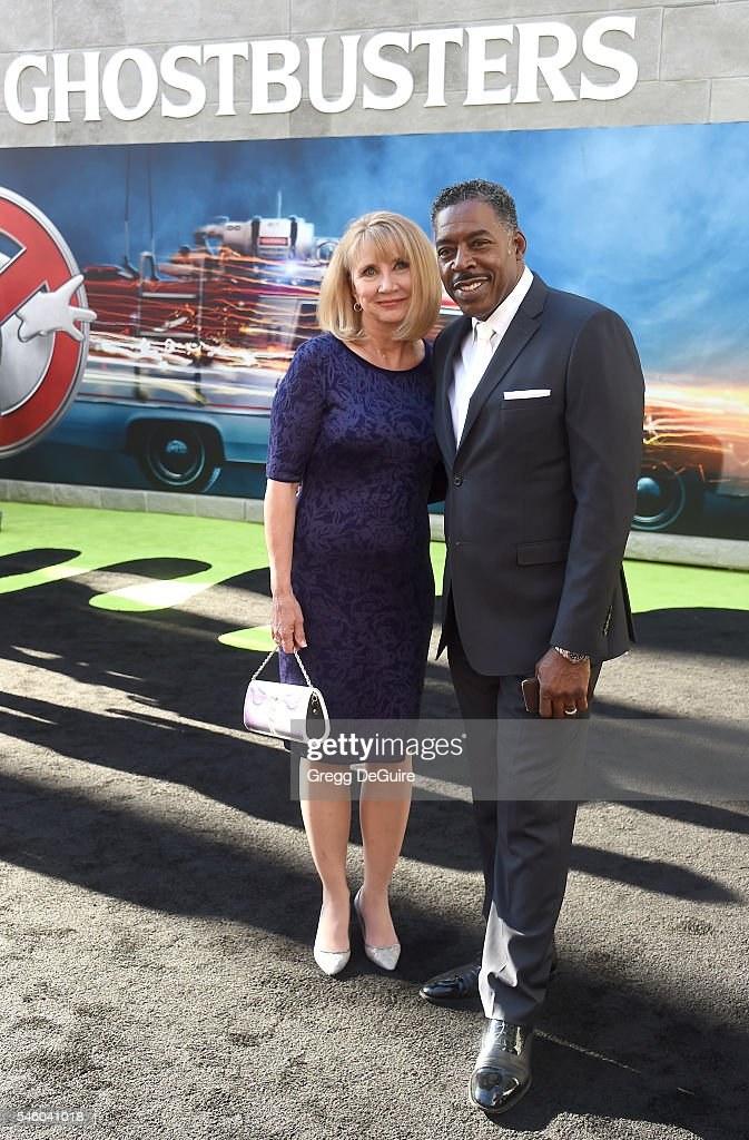 Actor Ernie Hudson and wife Linda KingsbergHudson arrive at the premiere of Sony Pictures' 'Ghostbusters' at TCL Chinese Theatre on July 9 2016 in...
