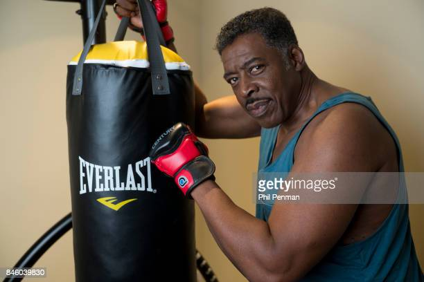 Actor Ernie Hudson is photographed in his work out room for Closer Weekly Magazine on July 5 2017 at home in Minnesota