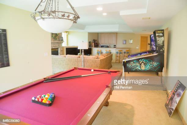 Actor Ernie Hudson's home is photographed for Closer Weekly Magazine on July 5 2017 in Minnesota Game room PUBLISHED IMAGE