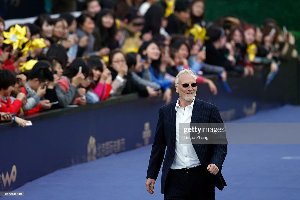 Actor Ernst Stotzner arrives at the closing ceremony red carpet during the 3rd Beijing International Film Festival at China National Convention Center on April 23, 2013 in Beijing, China.