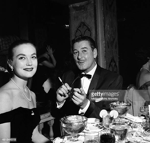 Actor Errol Flynn and wife Pat Flynn attend the Foreign Press Awards in Los Angeles California