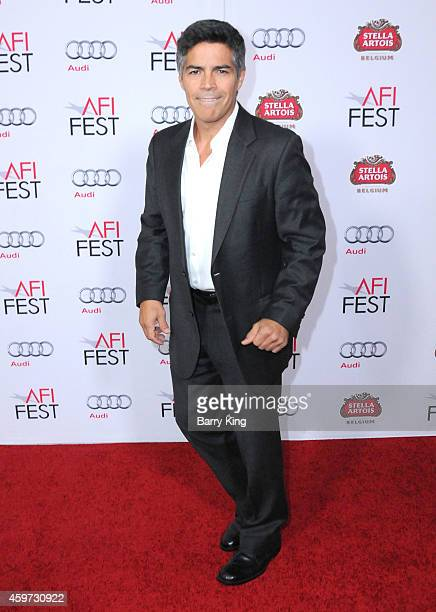Actor Esai Morales arrives at AFI FEST 2014 Presented By Audi 'Saint Laurent' Special Screening held at Dolby Theatre on November 11 2014 in...