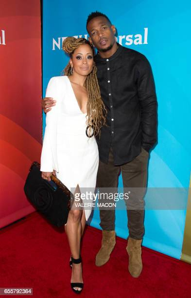 Actor Essence Atkins and Actor/executive producer Marlon Wayans of 'Marlon' arrive at the NBC Universal Summer Press Day at the Beverly Hilton on...