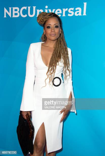 Actor Essence Atkins of 'Marlon' arrives at the NBC Universal Summer Press Day at the Beverly Hilton on March 20 Beverly Hills California / AFP PHOTO...