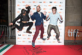 Actor Ethan Embry TIFF coordinator Colin Geddes and director Sean Byrne attend 'The Devil's Candy' premiere during the Toronto International Film...