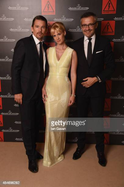 Actor Ethan Hawke actress January Jones wearing a JaegerLeCoultre watch of 'Good Kill' pose for a portrait with JaegerLeCoultre Communication...