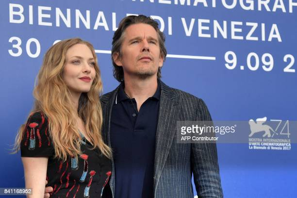 Actor Ethan Hawke and actress Amanda Seyfried attend the photocall of the movie 'First Reformed' presented in competition 'Venezia 74' at the 74th...