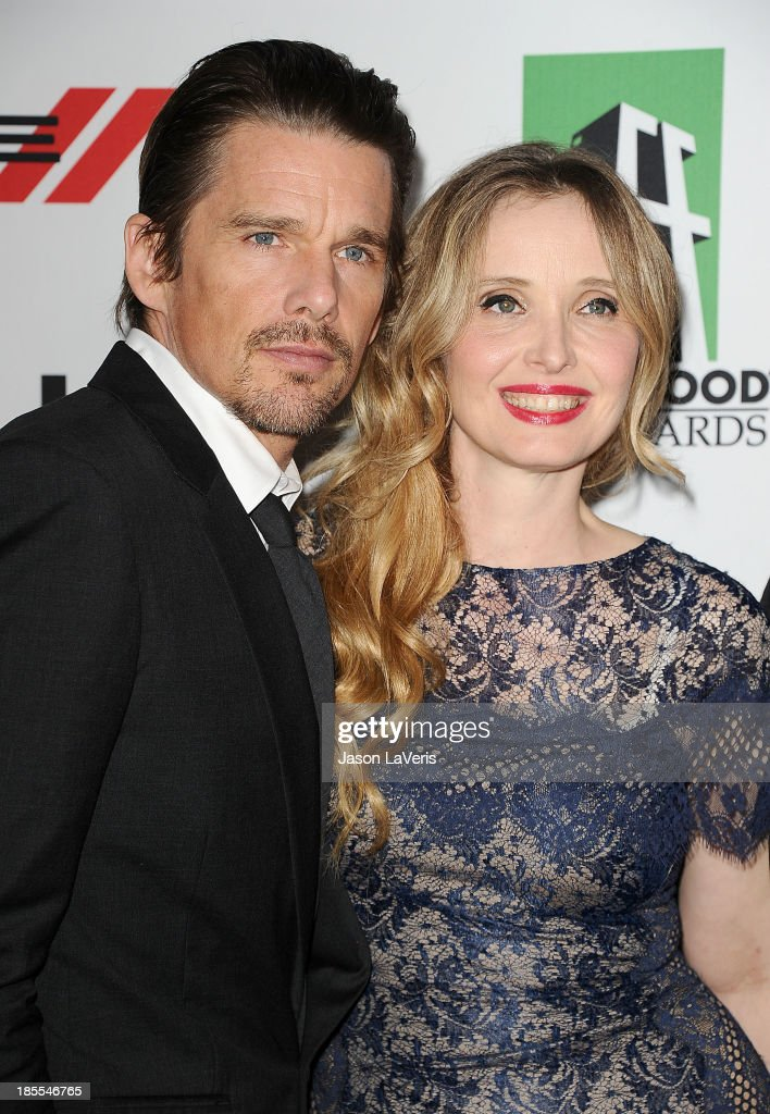 Actor <a gi-track='captionPersonalityLinkClicked' href=/galleries/search?phrase=Ethan+Hawke&family=editorial&specificpeople=178274 ng-click='$event.stopPropagation()'>Ethan Hawke</a> and actress <a gi-track='captionPersonalityLinkClicked' href=/galleries/search?phrase=Julie+Delpy&family=editorial&specificpeople=201914 ng-click='$event.stopPropagation()'>Julie Delpy</a> attend the 17th annual Hollywood Film Awards at The Beverly Hilton Hotel on October 21, 2013 in Beverly Hills, California.