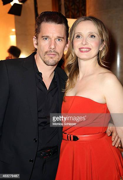 Actor Ethan Hawke and actress Julie Delpy attend the 23rd annual Gotham Independent Film Awards at Cipriani Wall Street on December 2 2013 in New...