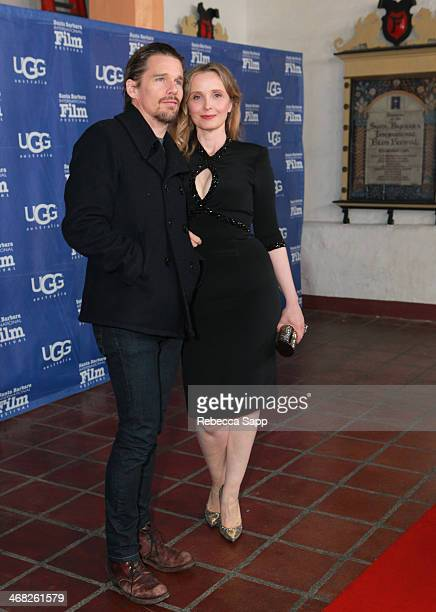 Actor Ethan Hawke and actress Julie Delpy attend the 29th Santa Barbara International Film Festival closing night screening of 'Before Midnight'...