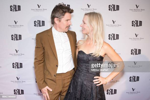 Actor Ethan Hawke and actress Kari Matchett arrive at the 60th San Francisco International Film Festival tribute to Ethan Hawke at Yerba Buena Center...