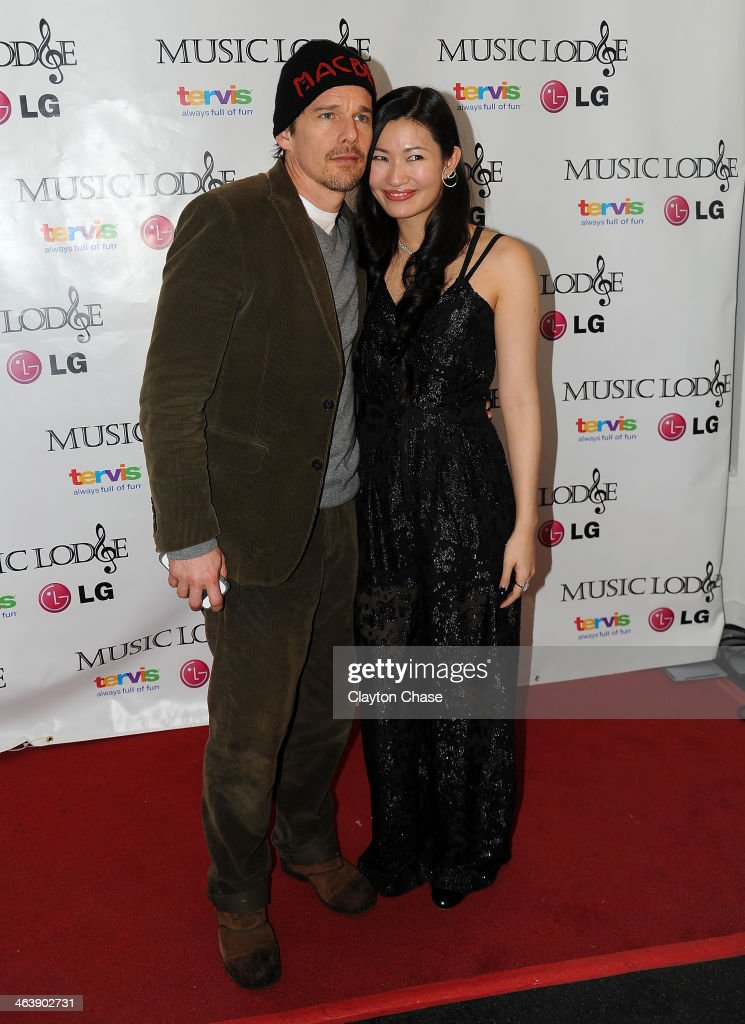 Actor <a gi-track='captionPersonalityLinkClicked' href=/galleries/search?phrase=Ethan+Hawke&family=editorial&specificpeople=178274 ng-click='$event.stopPropagation()'>Ethan Hawke</a> and actress Kimmy Lai attend The 10th Anniversary LG Music Lodge At Sundance With Elio Motors And Tervis on January 19, 2014 in Park City, Utah.