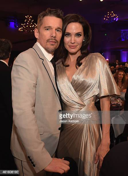 Actor Ethan Hawke and director/actor Angelina Jolie attend the 20th annual Critics' Choice Movie Awards at the Hollywood Palladium on January 15 2015...