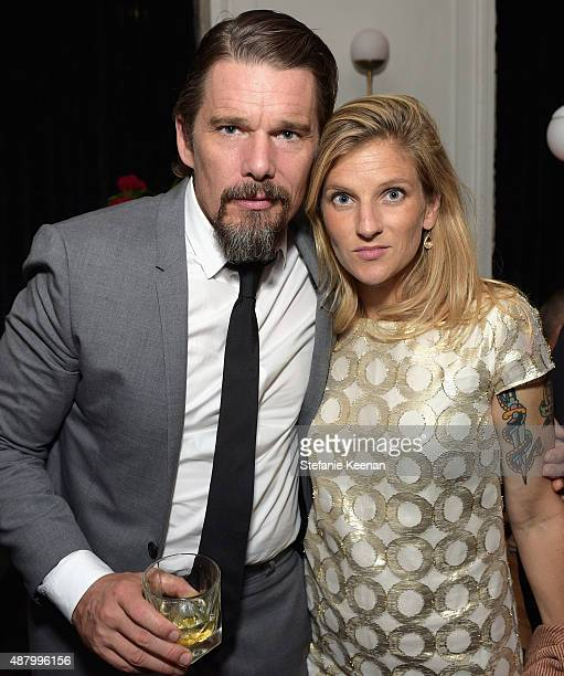 Actor Ethan Hawke and Ryan Hawke attend the Maggie's Plan TIFF party hosted by GREY GOOSE Vodka at Byblos on September 12 2015 in Toronto Canada