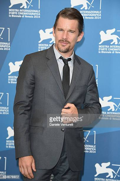 Actor Ethan Hawke attends 'Good Kill' Photocall during the 71st Venice Film Festival at Palazzo Del Casino on September 5 2014 in Venice Italy