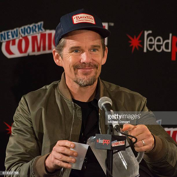 Actor Ethan Hawke attends INDEH Native Stories and the Graphic Novel panel during 2016 New York Comic Con on October 6 2016 in New York City