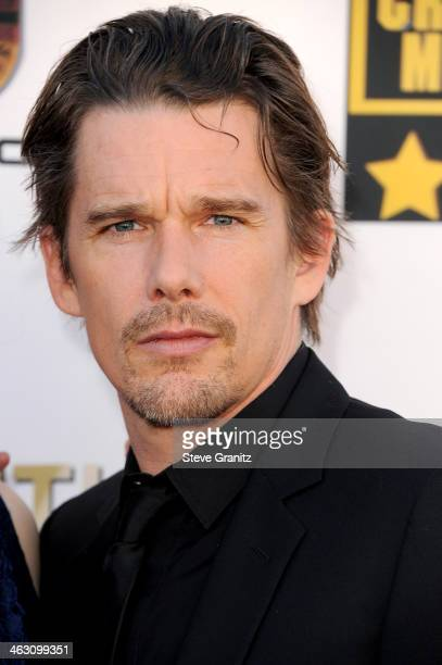 Actor Ethan Hawke attends the 19th Annual Critics' Choice Movie Awards at Barker Hangar on January 16 2014 in Santa Monica California