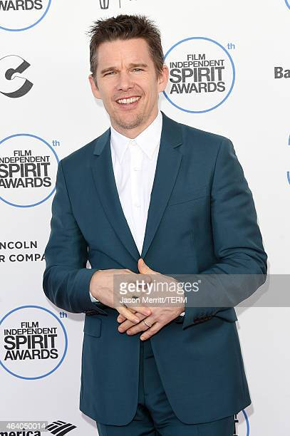Actor Ethan Hawke attends the 2015 Film Independent Spirit Awards at Santa Monica Beach on February 21 2015 in Santa Monica California