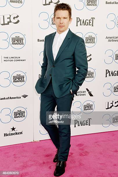 Actor Ethan Hawke attends the 2015 Film Independent Spirit Awards on February 21 2015 in Santa Monica California