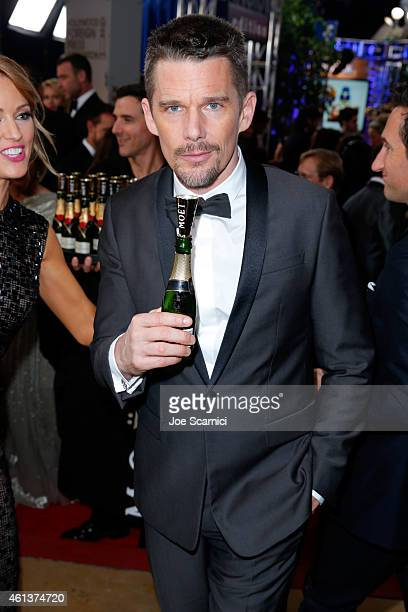 Actor Ethan Hawke attends the 72nd Annual Golden Globe Awards at The Beverly Hilton Hotel on January 11 2015 in Beverly Hills California