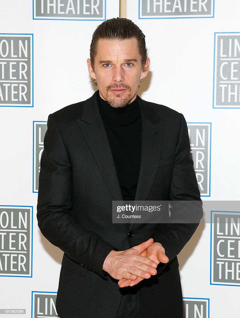 Actor <a gi-track='captionPersonalityLinkClicked' href=/galleries/search?phrase=Ethan+Hawke&family=editorial&specificpeople=178274 ng-click='$event.stopPropagation()'>Ethan Hawke</a> attends the afterparty for the opening night of 'Shakespeare's Macbeth' at Avery Fisher Hall, Lincoln Center on November 21, 2013 in New York City.