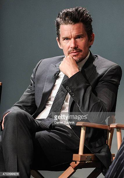 Actor Ethan Hawke attends the Apple Store Soho Presents Tribeca Film Festival 'Good Kill' at Apple Store Soho on April 19 2015 in New York City